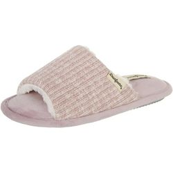 Dearfoams Womens Lane Knit Slide Slippers