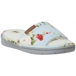 Dearfoams Womens Alice Floral Memory Foam Slide Slippers
