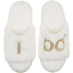 Dearfoams Womens I Do Bridal Slide Slippers