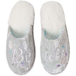 Dearfoams Womens Bride Velour Slide Slippers
