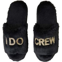 Dearfoams Womens I Do Crew Bridal Slide Slippers