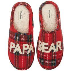 Dearfoams Mens Holiday Papa Bear Slippers