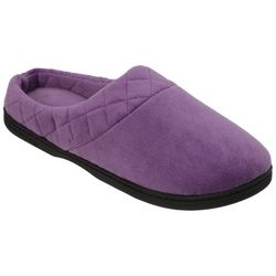 Dearfoams Womens Quilted Memory Foam Clog Slippers