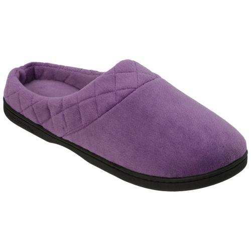 f0251109d0e9 Dearfoams Womens Quilted Memory Foam Clog Slippers