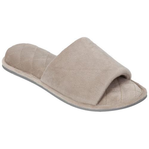 017733431dd179 Dearfoams Womens Memory Foam Scuff Slippers