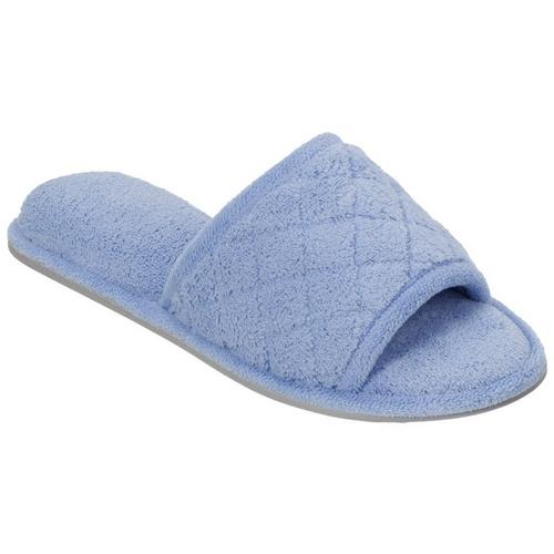 5171bf2a1edb Dearfoams Womens Quilted Memory Foam Slippers