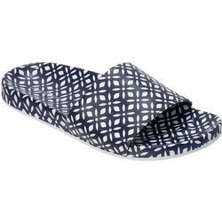 Dearfoams Womens Print Poolside Slide Slippers