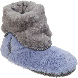Dearfoams Womens Fuzzy Bootie Slippers