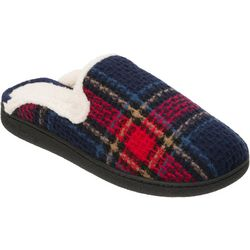 Dearfoams Womens Madras Plaid Slide Slippers