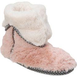 Dearfoams Womens Fluffy  Bootie Slippers