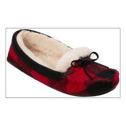 Dearfoams Womens Knit Moccasin Slippers