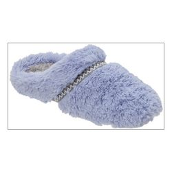 Dearfoams Womens Faux Fur Scuff Slippers
