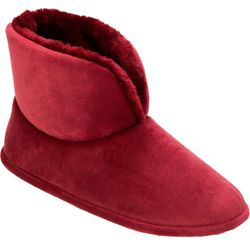 Dearfoams Womens Velour Bootie Slippers