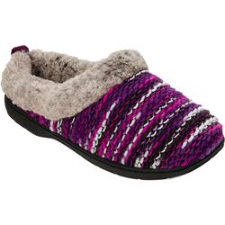 Dearfoams Womens Yarn Dye Memory Foam Clog Slippers