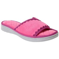 Dearfoams Womens Quilted Terry Slide Slippers