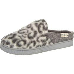 Dearfoams Womens Leopard Sneaker Clog Slippers