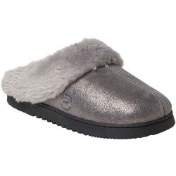 Dearfoams Womens Genuine Suede Scuff Slippers