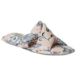 Womens Floral Twist Slide Slippers