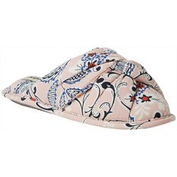 Dearfoams Womens Floral Twist Scuff Slippers