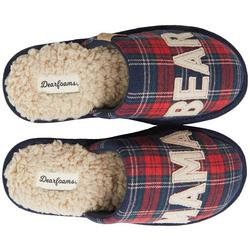 Womens Mama Bear Plaid Slippers