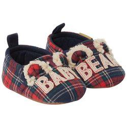 Dearfoams Infant Baby Bear Plaid Slippers