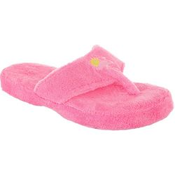 Coral Bay Womens Flamingo Thong Slippers