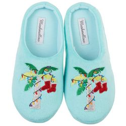 Olivia Miller Womens Christmas Palm Slippers