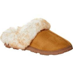 Jessica Simpson Womens Faux Fur Micro-Suede Slippers