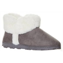Jessica Simpson Womens Faux Fur Microsuede Bootie Slippers