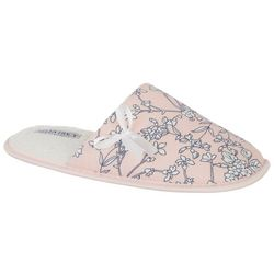 Ellen Tracey Womens Floral Print Slippers