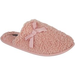 Laundry By Shelli Segal Womens Curly Fleece Scuff Slippers