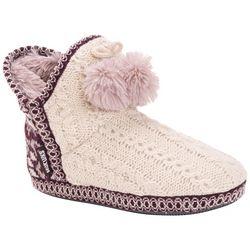 Womens Amira Fairisle Tassel Bootie Slippers