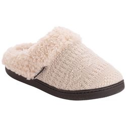 Muk Luks Womens Suzanne Fair Isle Knit Clog Slippers