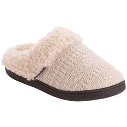 Womens Suzanne Fair Isle Knit Clog Slippers