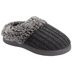 Muk Luks Womens Suzanne Knit Clog Slippers