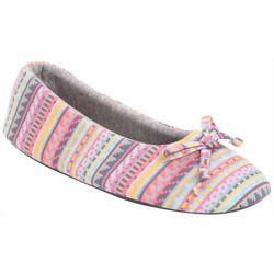 Muk Luks Womens Jersey Ballerina Slippers