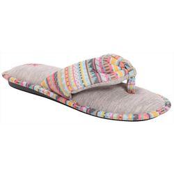 Muk Luks Womens Jersey Thong Slippers