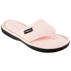 Womens Heathered Jersey Thong Slippers