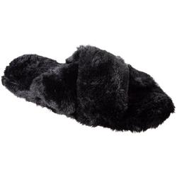 Womens Fey Faux Fur Slide Slippers