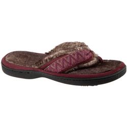 Isotoner Womens Comfort Faux Fur Slippers