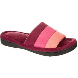 Isotoner Womens Microterry Stripe Slide Slippers