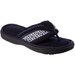 Isotoner Womens Nina Microfiber Terry Thong Slippers