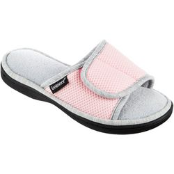 Isotoner Womens Sports Mesh Slide Slippers