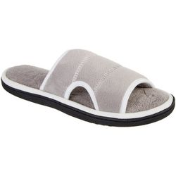 Womens Contrast Trim Microterry Slide Slippers