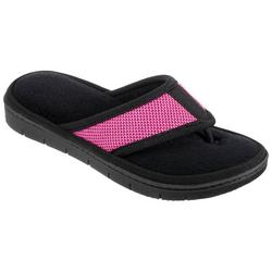 Womens Mesh Microfiber Terry Thong Slippers