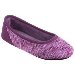 Womens Jersey Space Dye Ballerina Slippers