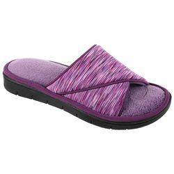 Isotoner Womens Space Dye Slide Slippers