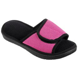 Isotoner Womens Sports Mesh Adjustible Slide Slippers