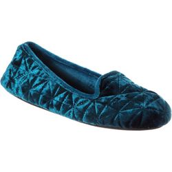 Isotoner Womens Stephanie Quilted Closed Back Slippers