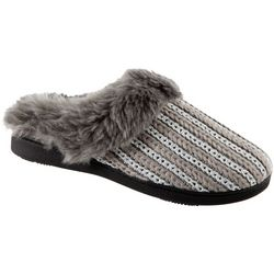 Isotoner Womens Lurex Hoodback Clog Slippers